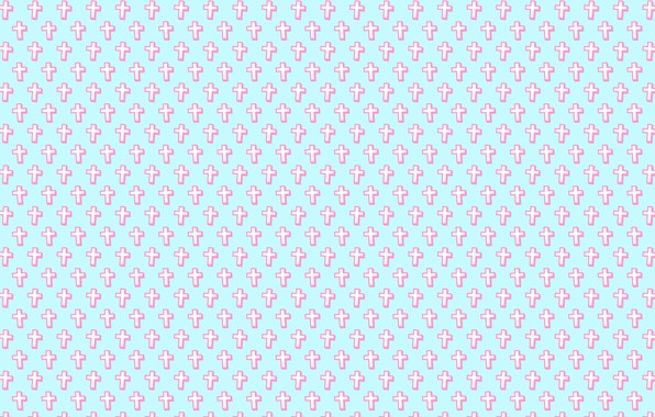 Picture white, pink, blue, cross, texture