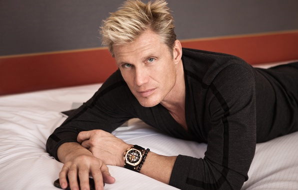 Picture look, pose, watch, hands, actor, male, bracelet, blonde, Dolph Lundgren, Dolph Lundgren