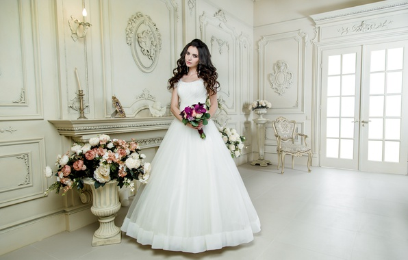 Picture style, holiday, bouquet, makeup, hairstyle, the bride, wedding, decor