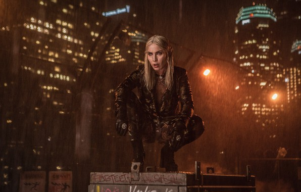 Picture The city, Blonde, Rain, Building, City, Actress, Movie, Elf, The film, Fiction, Rain, Blonde, Elf, …