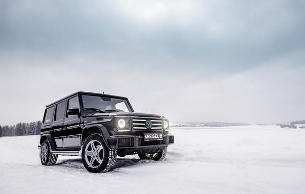 Photo wallpaper Mercedes, G-Class, winter, vnedorozhnik, Mercedes-Benz, g, W463