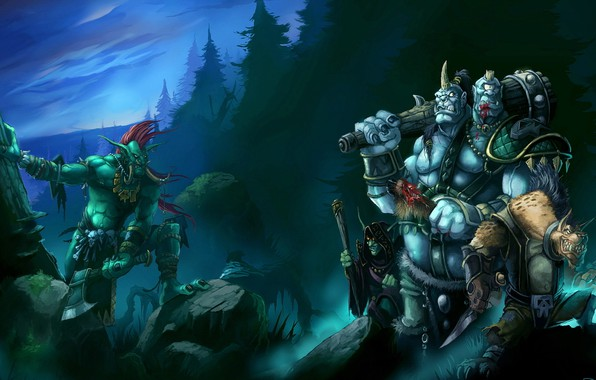 Picture Warcraft III 3 Frozen Throne, Troll, robbers, Warcraft 3, Ogre mage, gel