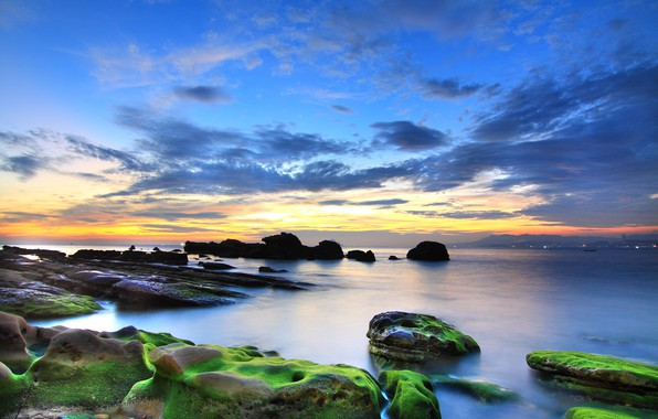 Picture sea, beach, stones, coast
