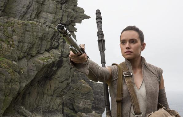 Picture cinema, Star Wars, red, black, woman, stars, movie, film, jedi, Rey, Daisy Ridley, islad, Star …