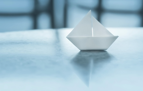 Picture paper, background, boat, origami