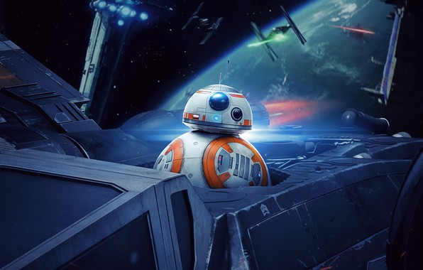 Photo wallpaper Action, Ligthning, Hux, Sci-Fi, Droid, The, Finn, Kylo Ren, Carrie Fisher, Luke, Warriors, Star Wars: ...