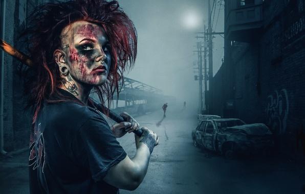 Picture girl, sledgehammer, Silent Hill