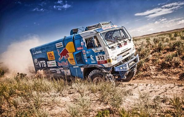 Picture Nature, Grass, Dust, Sport, Speed, Stones, Truck, Race, Master, Dirt, Hills, Squirt, Beauty, Russia, Kamaz, …