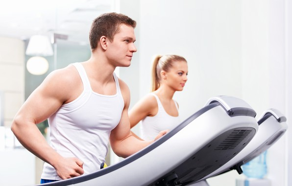 Picture focus, exercise, guy, fitness, gym, strong, healthy, weight loss, treadmill, treadmill workout, breathe, fit body