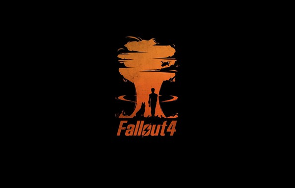 Picture Minimalism, The game, The explosion, Figures, Background, Fallout, Bethesda Softworks, Bethesda, Bethesda Game Studios, Fallout …