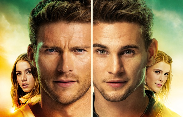 Picture girls, face, guys, Thriller, action, poster, characters, closeup, Gaia Weiss, Scott Eastwood, Scott Eastwood, Ana ...