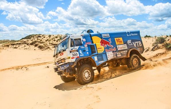 Picture Sand, Sport, Speed, Truck, Race, Master, Day, Russia, Heat, KAMAZ, KAMAZ, Best, Master, Redbull