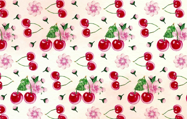 Picture flowers, background, texture, pattern, cherry, cherry