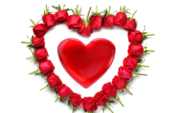Wallpaper Heart Red Rose Heart Romantic Valentine S Day Red