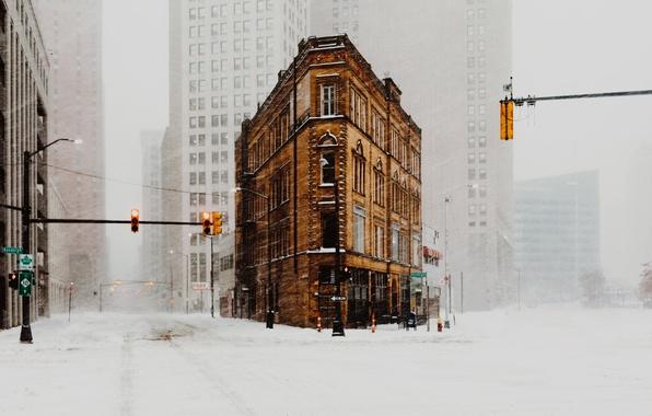 Wallpaper usa the city blizzard home street winter for Wallpaper home usa
