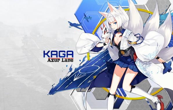 Picture girl, anime, art, kaga, azur lane