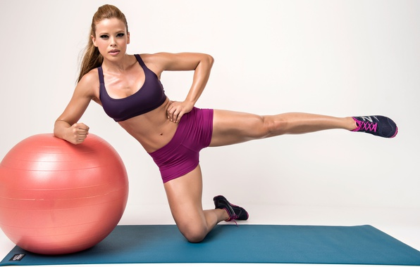 Picture legs, Ball, female, workout, fitness