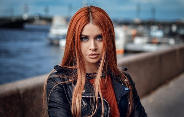 Picture look, red, redhead, promenade, long hair, Hakan Erenler, Dana Bounty