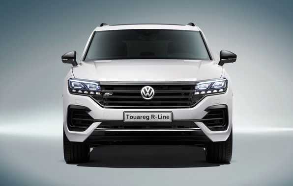 Picture lights, Volkswagen, front view, Touareg, 2018, R-Line