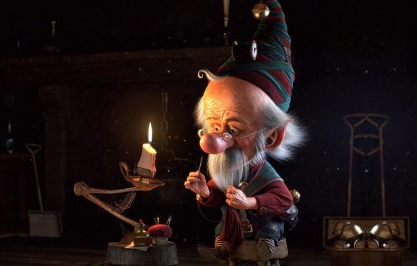 Picture work, holiday, elf, art, New year, little christmas elf, cristian ramirez