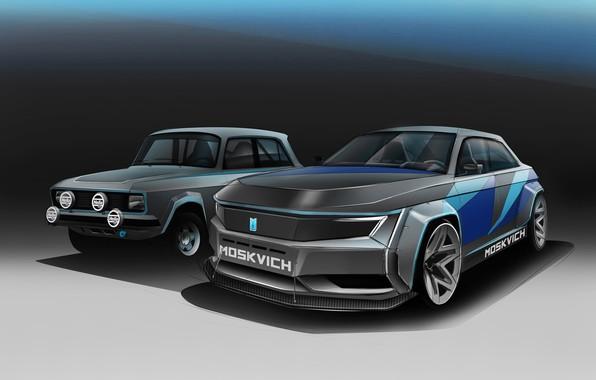 Picture Auto, The concept, Car, Car, Art, Auto, Hella, Muscovite, Moskvich 2020, Muscovite 2020