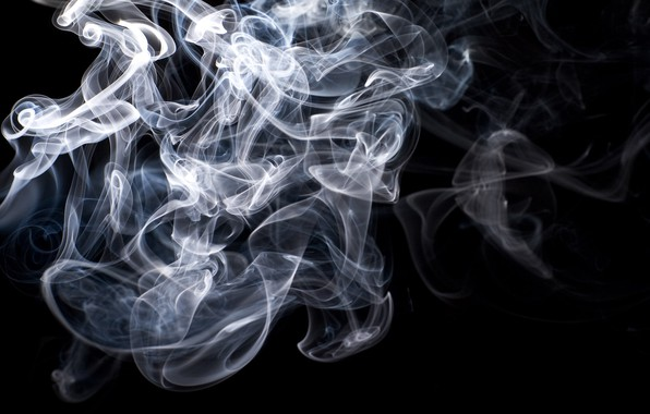 Picture Blue, Black, White, Smoke, Gray, Texture, Backgraund