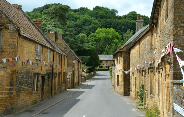 Picture England, home, Road, Street, Street, England, Road, Montacute, Beautiful