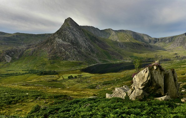 Picture mountains, stones, rocks, Wales, Snowdonia