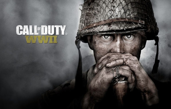 Picture Call of Duty, soldier, war, eyes, fog, man, american, face, World War II, head, Activision, …