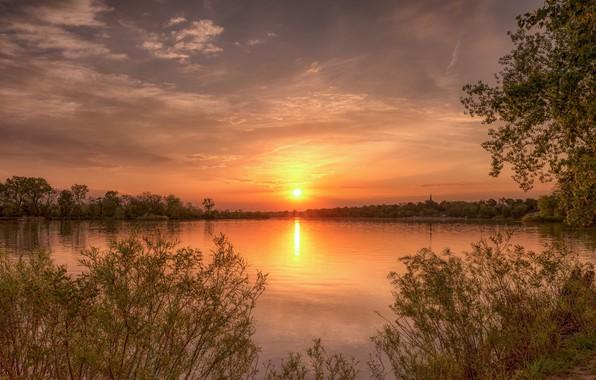 Picture landscape, sunset, nature, beauty