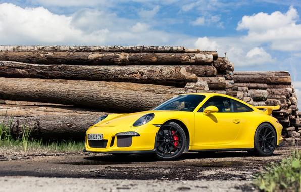 Picture Porsche, GT3, Yellow, 991