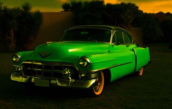 Picture retro, coupe, car