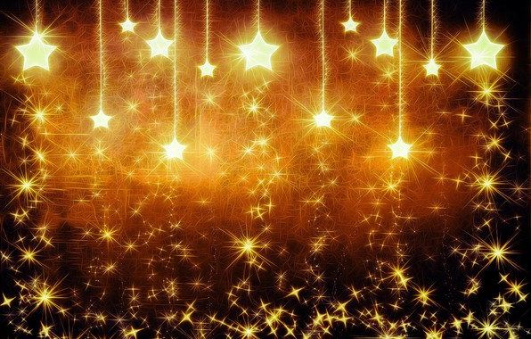 Picture Stars, Light, Background, Sparks