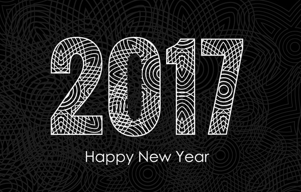 Picture pattern, graphics, New year, New Year, Holidays, 2017