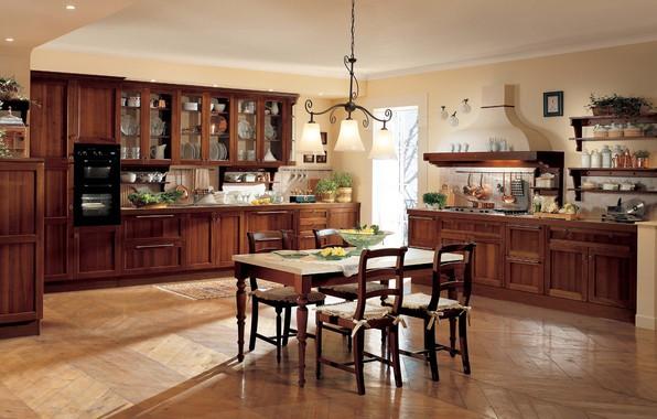 Picture Villa, interior, kitchen, dining room