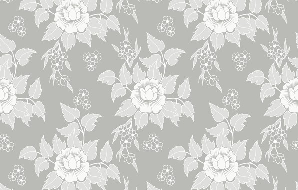 Photo Wallpaper Flowers Retro Texture Vintage Flower