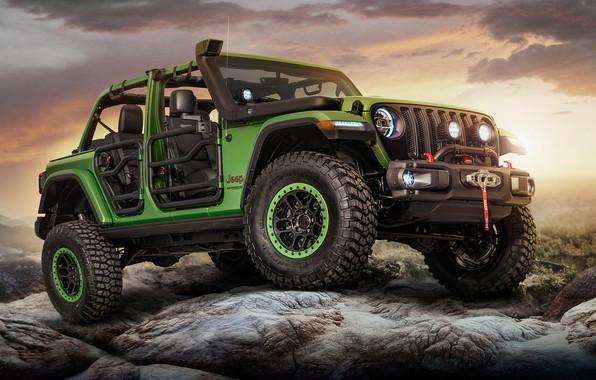 Photo wallpaper Wrangler, 2018, Unlimited Rubicon Moparized, Jeep