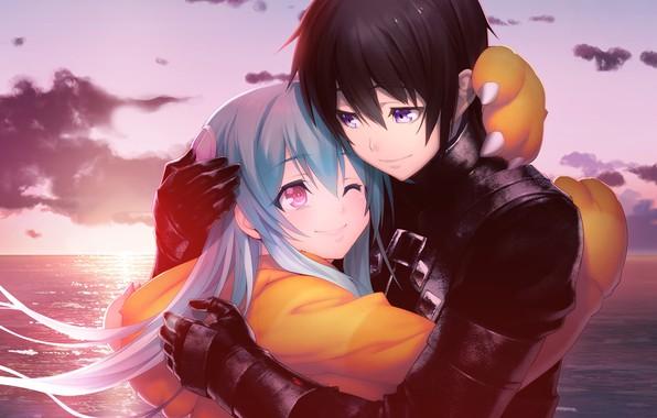 Picture girl, romance, pair, guy, two, manga, Tokyo Necro