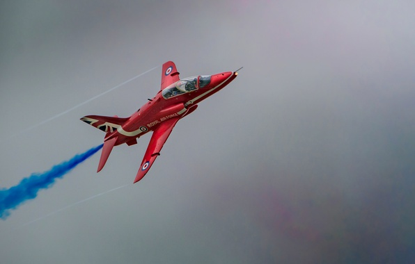 Picture UK, aerobatic team, RAF, The Red Arrows, Royal air force, Red Arrow, Hawk T1, Hawker …