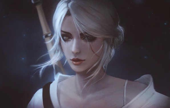 Picture the witcher, wild hunt, ciri