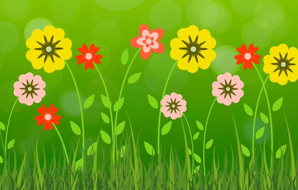 Picture summer, flowers, petals
