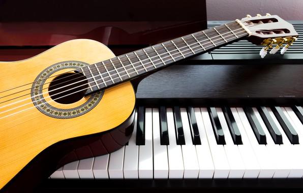 Picture music, Guitar, Piano