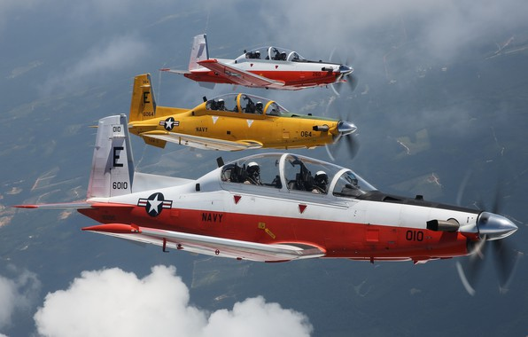 Picture training aircraft, T-6B, Texan II