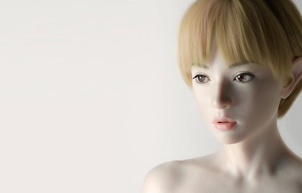 Picture elf, art, fantasy, Qi Sheng Luo, Asian Elf