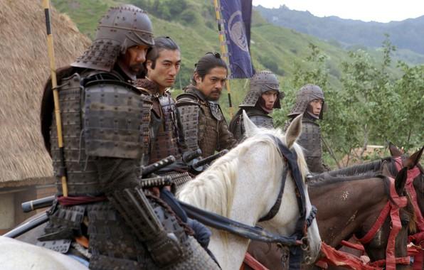 Photo wallpaper cinema, armor, katana, movie, ken, blade, horse, bow, pearls, arrow, bushido, tanto, fim, kabuto, Last ...
