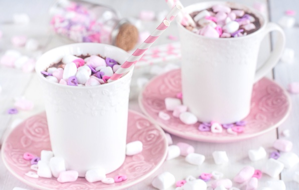 Picture Cup, cocoa, marshmallows
