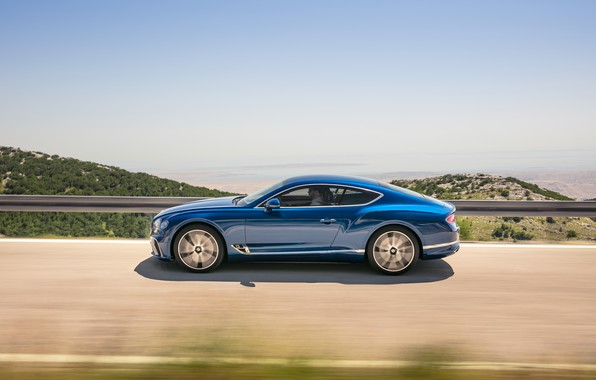 Picture Bentley, Continental GT, Blue, Coupe, 2017