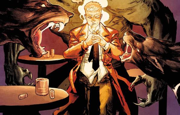 Picture Smoke, Bar, Comic, Cloak, Wolf, Lighter, Comics, Tie, Wolves, Werewolf, Drinks, Cape, Cigarette, Comics, John …