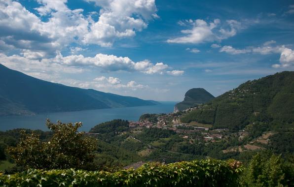 Picture The city, Panorama, Landscape, Panorama, Lake Garda, Town, Lake Garda, Garda