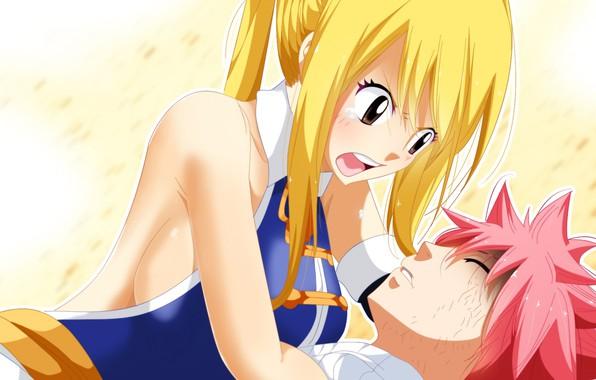 Photo Wallpaper Anime Art Fairy Tail Natsu Lucy